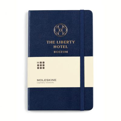 Moleskine® Hard Cover Ruled Medium Notebook Blue