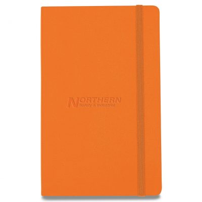 Moleskine® Hard Cover Ruled Large Notebook Orange