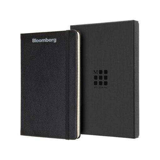 Moleskine® Leather Ruled Large Notebook Black