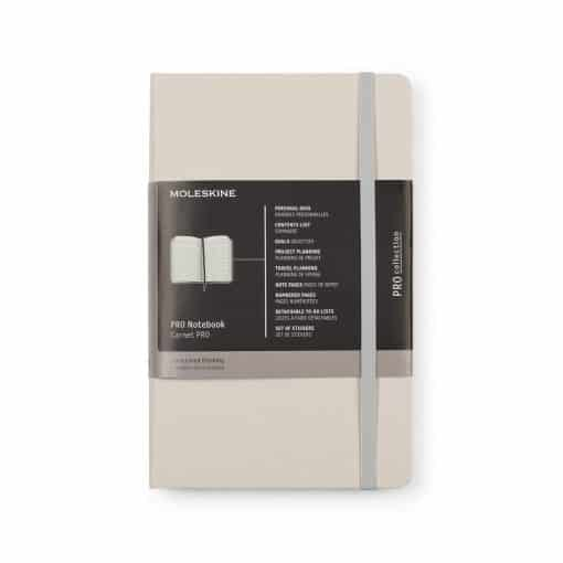 Moleskine® Hard Cover Ruled Large Professional Notebook Grey