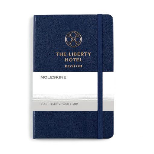 Moleskine® Hard Cover Ruled Medium Notebook Blue-Navy