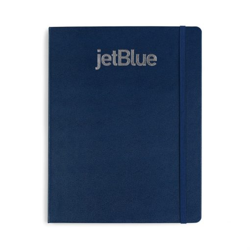 Moleskine® Hard Cover Ruled X-Large Notebook Blue-Navy