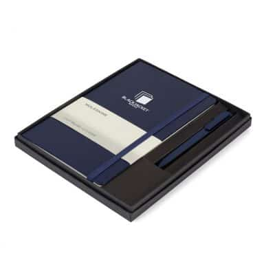 Moleskine® Large Notebook and GO Pen Gift Set Navy-Blue
