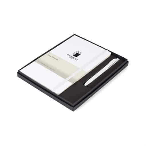 Moleskine® Large Notebook and GO Pen Gift Set White
