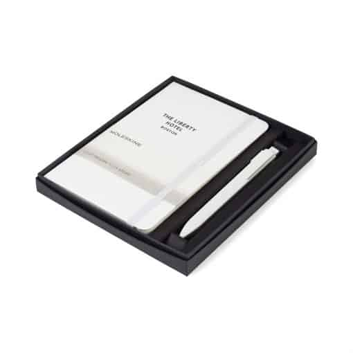 Moleskine® Medium Notebook and GO Pen Gift Set - White