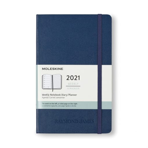Moleskine® Hard Cover Large 12-Month Weekly 2021 Planner - Sapphire Blue