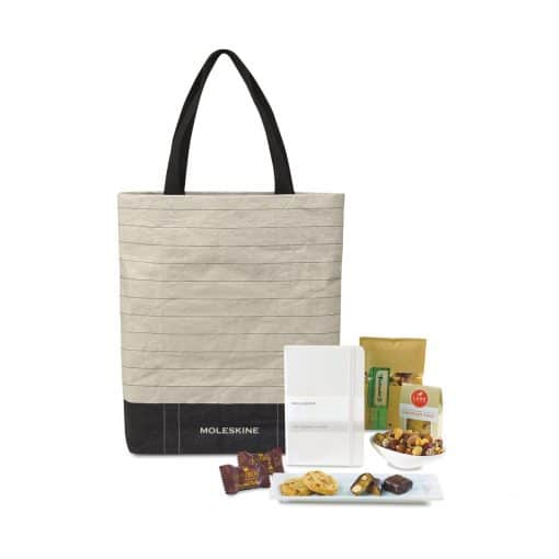 Savor & Take Note Tote - White